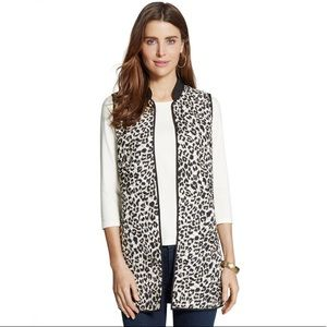 Chico's REVERSIBLE QUILTED LEOPARD VEST